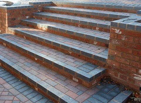 Brick Step Installers Birmingham Garden Step Landscaping   How To Build A  Brick Staircase .