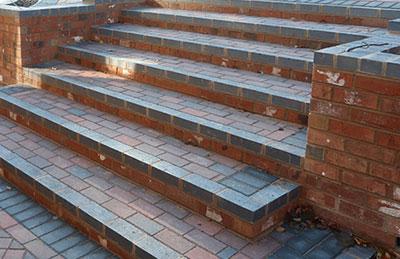 Garden Brick Steps